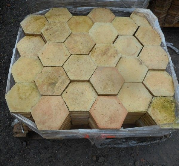 French Hexagonal Salvaged Floor Tiles Authentic Reclamation