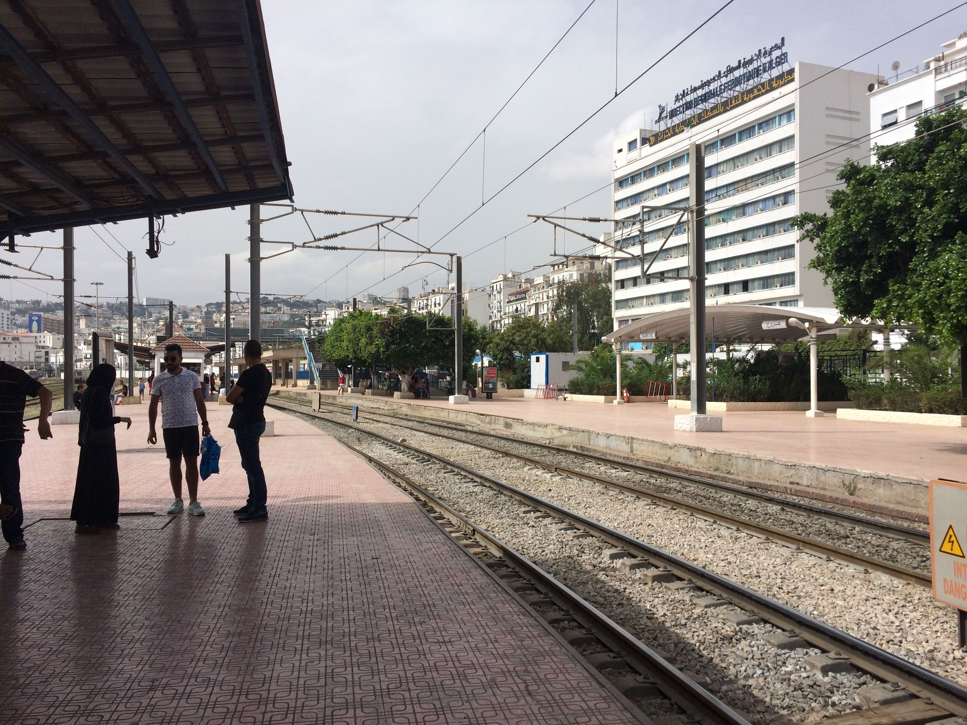 Station de train d'Agha à Alger, Algérie