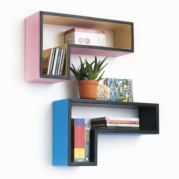 L-Shaped Floating Shelves | dotandbo.com