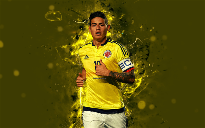 Download Wallpapers James Rodriguez 4k Abstract Art Colombia National Team Fan Art Rodriguez Soccer Footballers Neon Lights Colombian Football Team Bes In 2020 James Rodriguez Football Team Football Boys