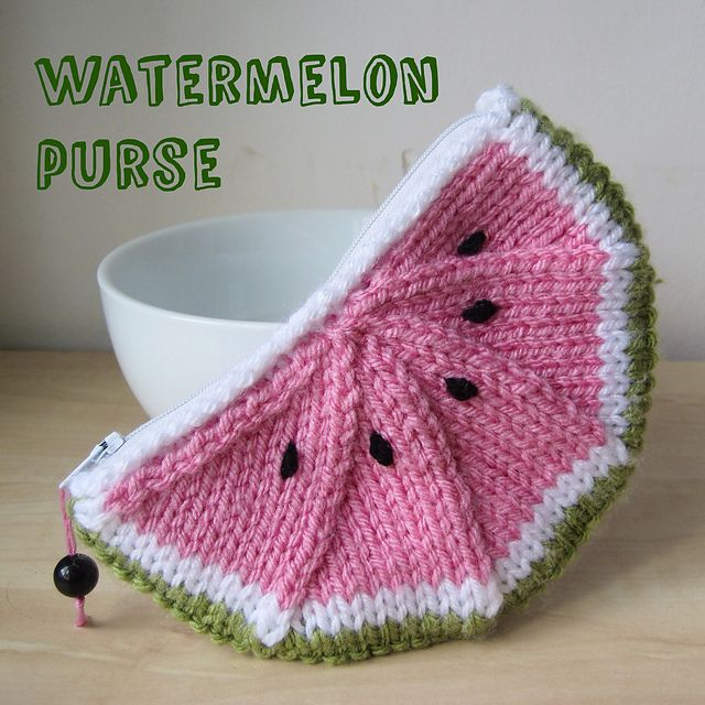 Watermelon Purse Free Knitting Pattern Pdf File Click Download