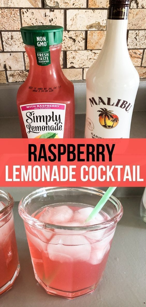 The most refreshing Raspberry Lemonade Cocktail that is only 2 ingredients! So good! Can sub Light Simply Raspberry Lemonade.