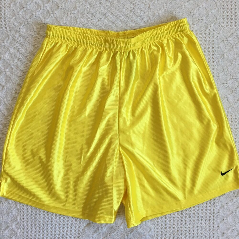 2f2c1d55c0 Nike 100% Polyester Yellow Basketball Athletic Shorts Big Boys Size ...