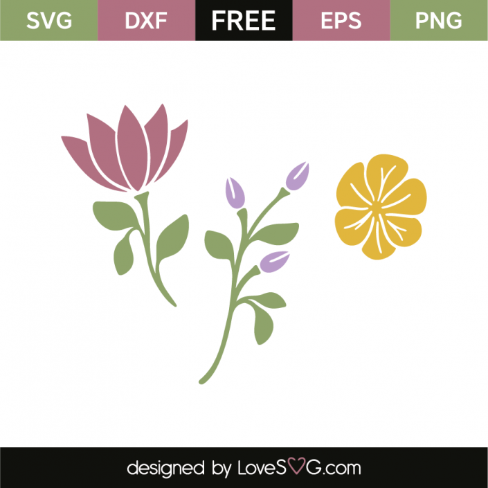 Flowers | 0 Vinyl Crafts | Cricut svg files free, Free svg