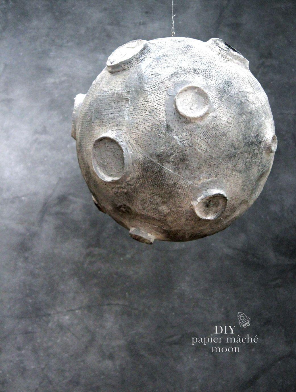 Papier Mache dedans papier mache moon   kid's rooms   pinterest   papier mache, moon and