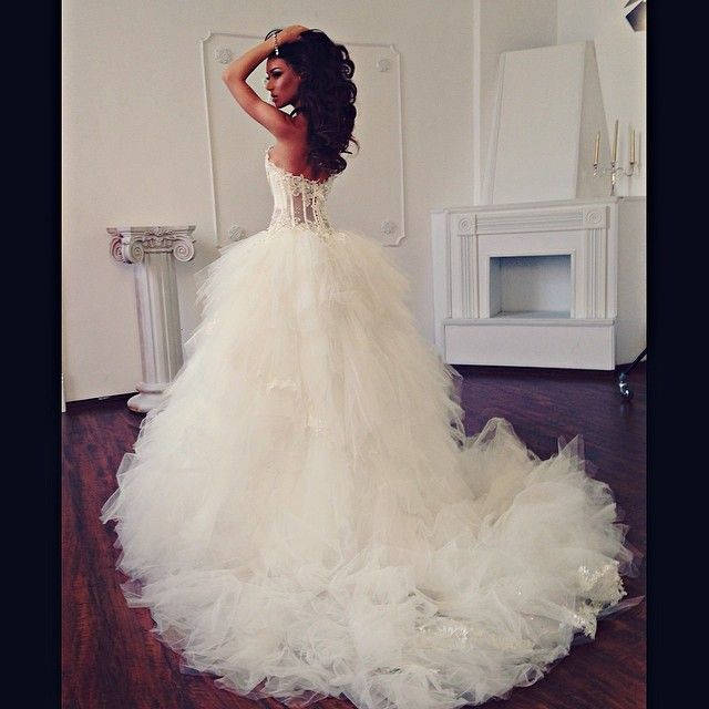 Tulle Wedding gown with lace corset