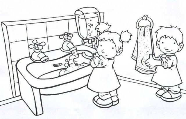 Hábitos de higiene | Coloring pages ~ kids | Pinterest | Habitos de ...