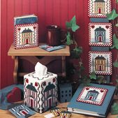 Home Sweet Home Plastic Canvas Patterns ePattern