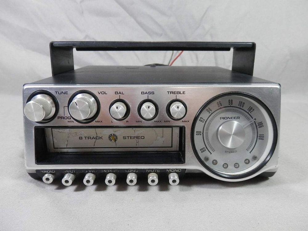 Vintage Pioneer Supertuner TP 900 8 Track FM Radio Car