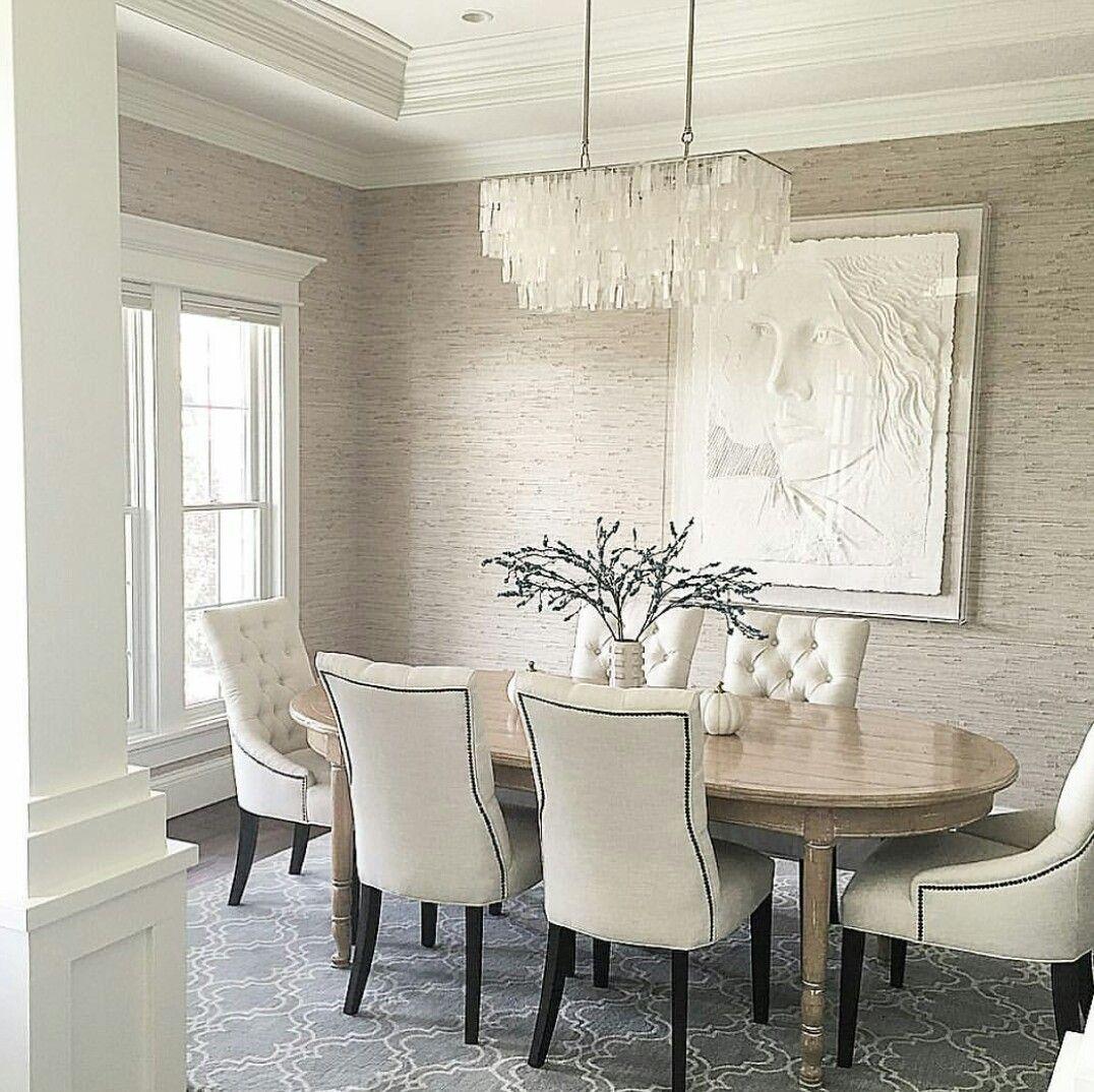 Grasscloth wallpaper Dining room decor, Home, Home decor