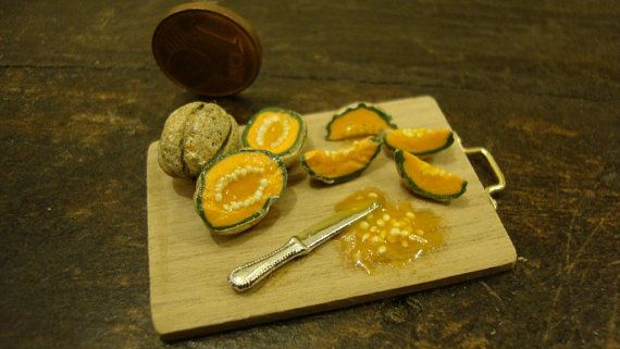 miniature chopping wood with italian melon by bagusitaly on Etsy