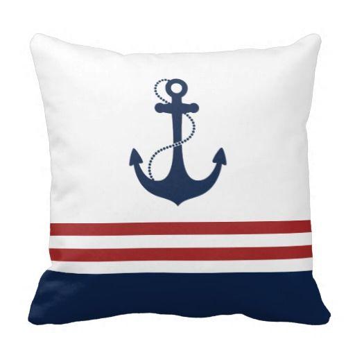 Nautical Anchor Throw Pillows