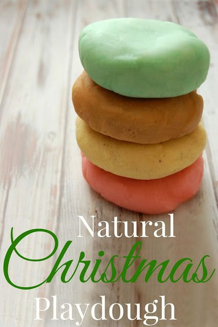 Natural Christmas Playdough Take the scents of the holidays and capture them in playdough Candy Cane Eggnog Gingerbread and Christmas Tree