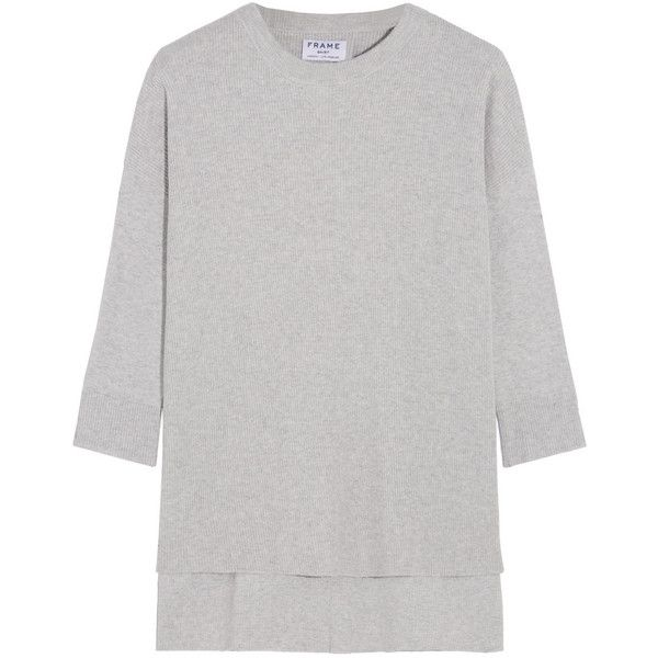 Frame Le Boxy cotton, silk and cashmere-blend sweater ($215 ...