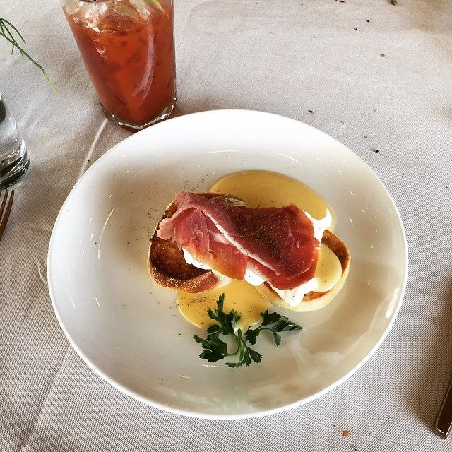 Eggs Benedict are served at best brunch spot in town: New Hotel! Photo by @achilleas2k