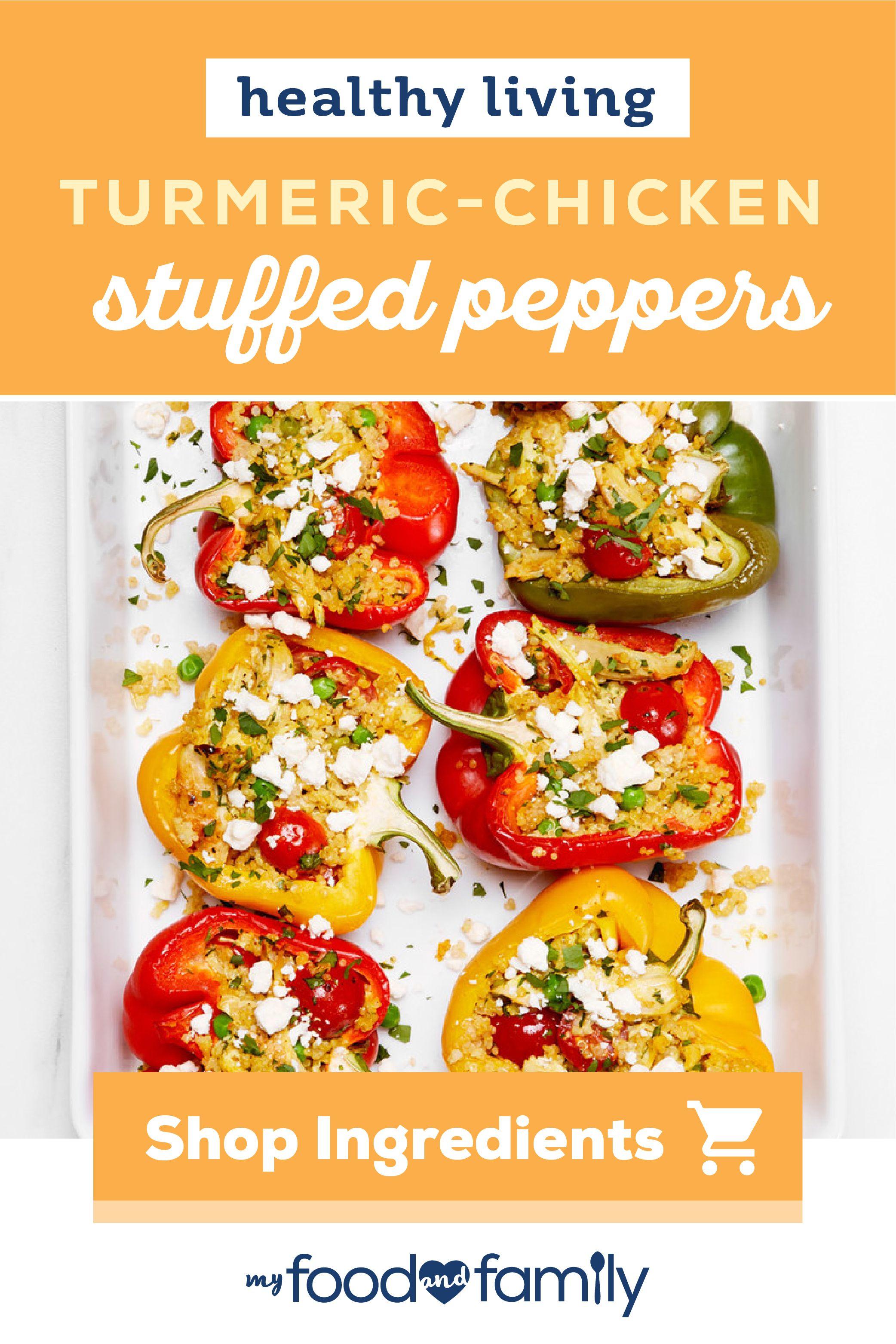 TurmericChicken Stuffed Peppers Recipe in 2020