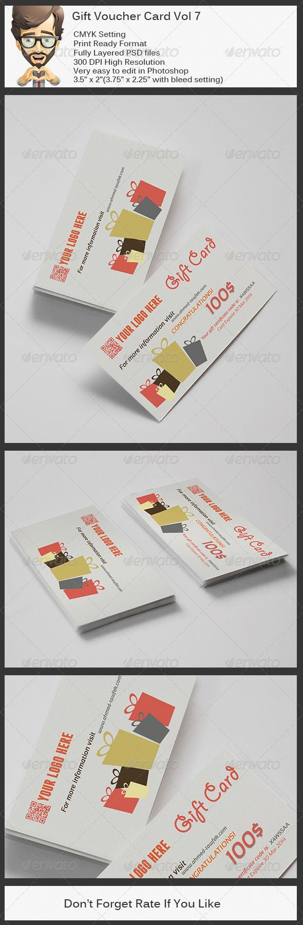 Gift Voucher Format Gift Voucher Card Vol 7  Psd Template  Only Available Here ➝ Http .