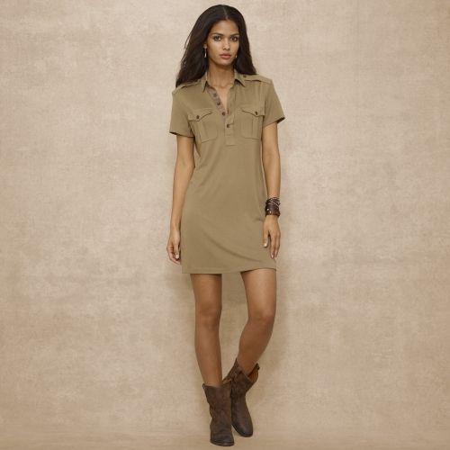 6b37d682d1 Ralph Lauren Blue Label Silk-Blend Jersey Shirtdress on shopstyle ...