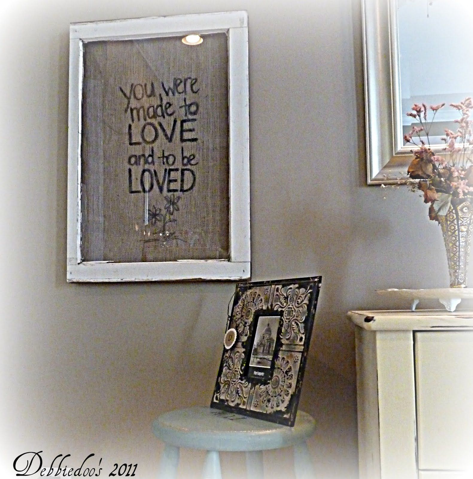 Burlap picture frame {You were made to love} - Debbiedoo\'s | Burlap ...