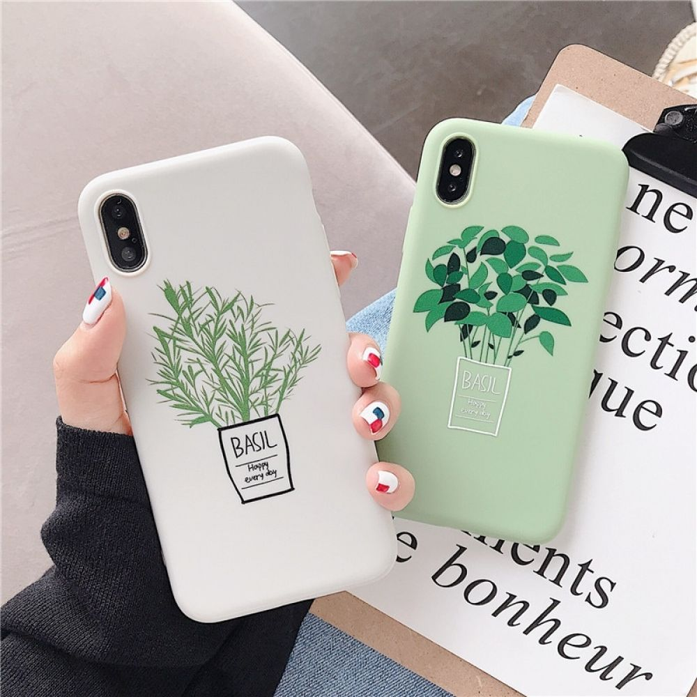 Cute Green Flowers Phone Case For iPhone iPhone Cases