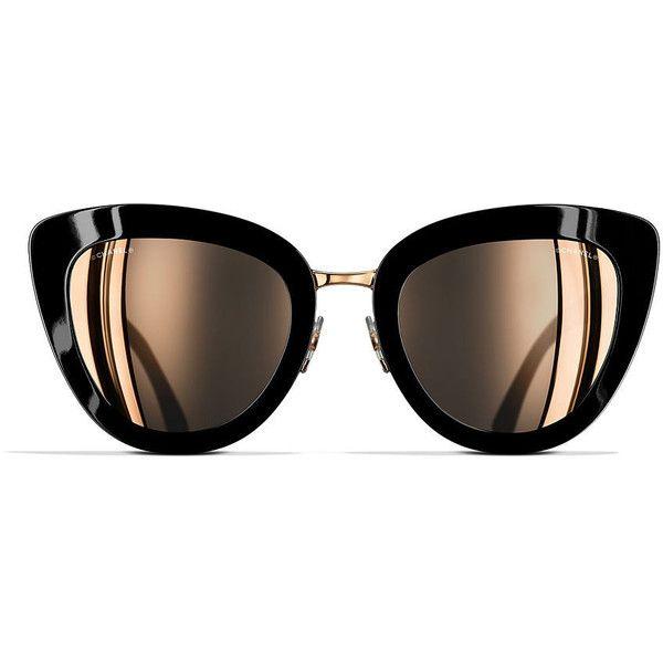 CHANEL Cat eye Sunglasses 52 Pink & Black Sunglasses   Sunglass Hut ...