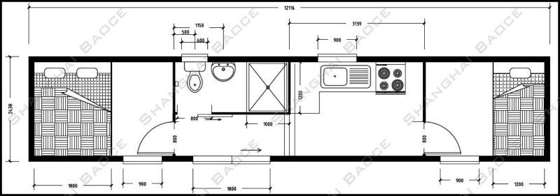 Container house floor plans shipping containers at a fair for Shipping container building plans