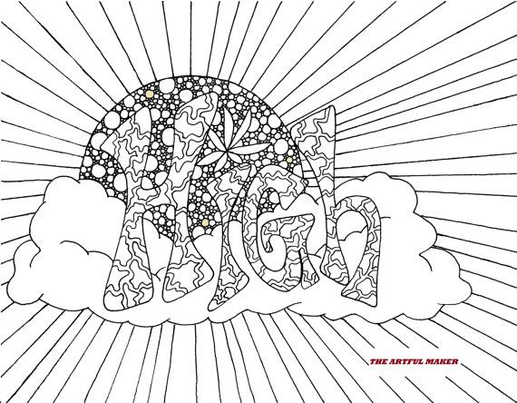 High Sunshine Adult Coloring Page By The Artful Maker Coloring
