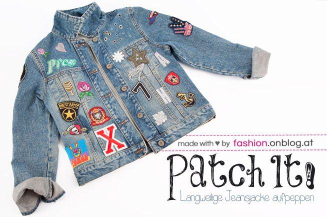 patch it alte jeansjacke mit b gelapplikationen aufpeppen fashion blog diy outfits. Black Bedroom Furniture Sets. Home Design Ideas