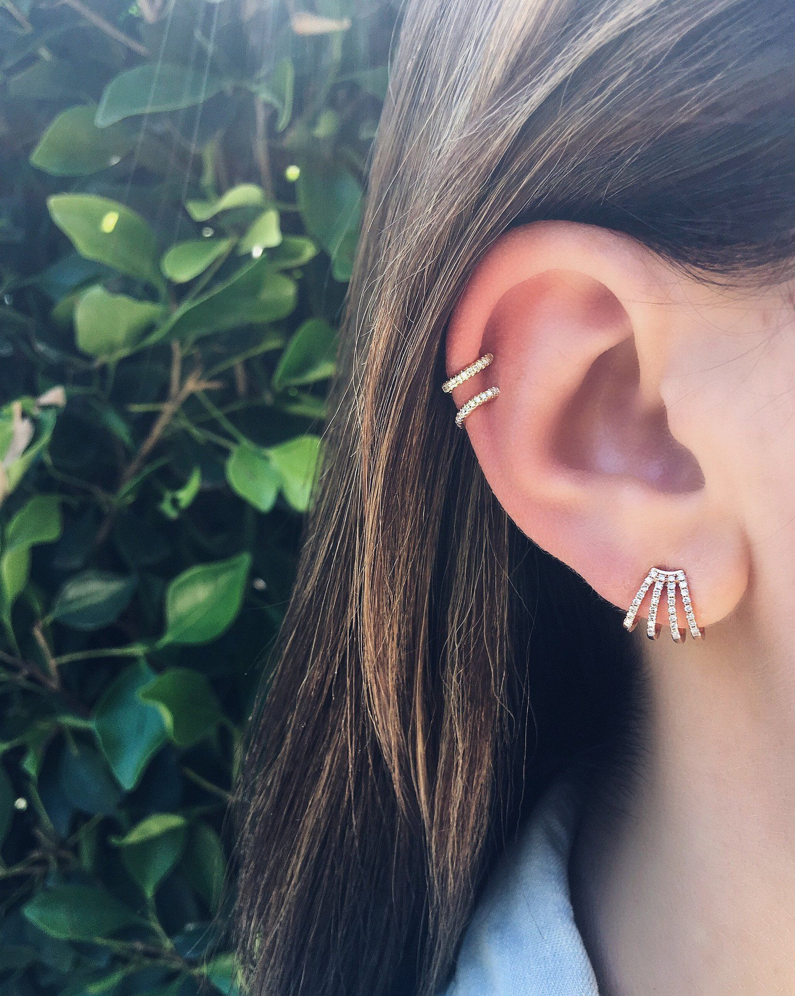 Nose piercing ripped out  Single Diamond Cartilage Ear Cuff No Piercing  jewellery