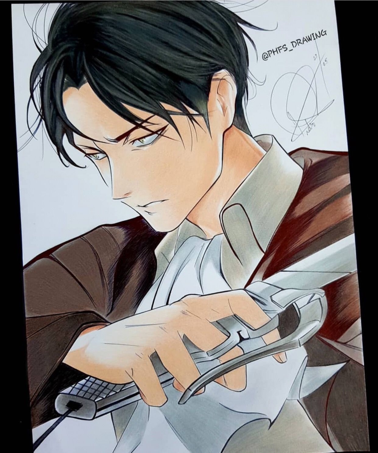 Check out this amazing levi art by phfs_drawing visit