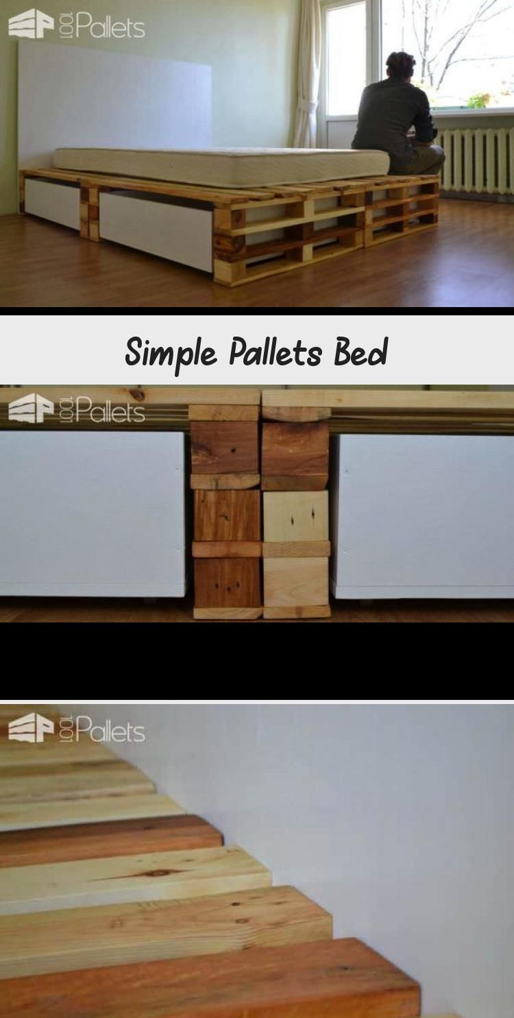 Photo of Simple Pallets Bed – Pallet