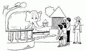 Hasil Gambar Untuk Cara Menggambar Kebun Binatang Gaaamabr