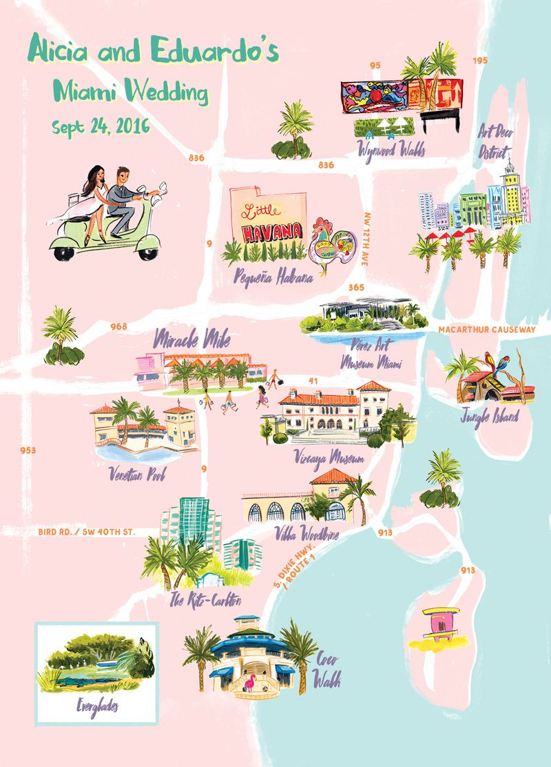 miami map illustratedlaura shema for jolly edition