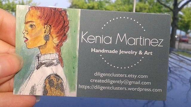 Diligent Clusters's Business cards. #EtsyShop #Blogger #Artist #JewelryDesigner #Handmade