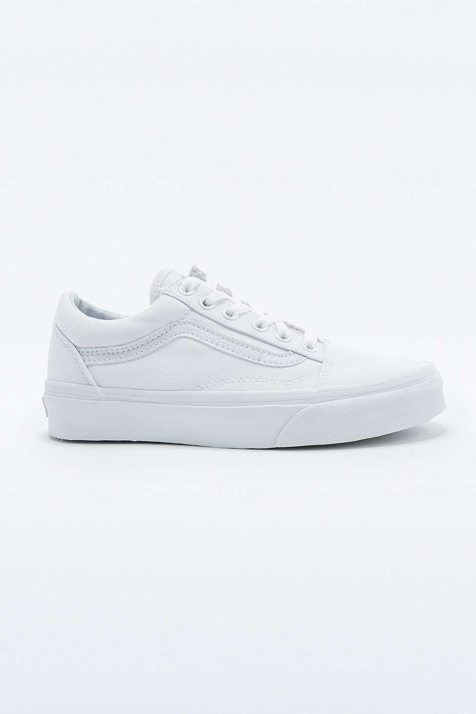 vans blanche toile