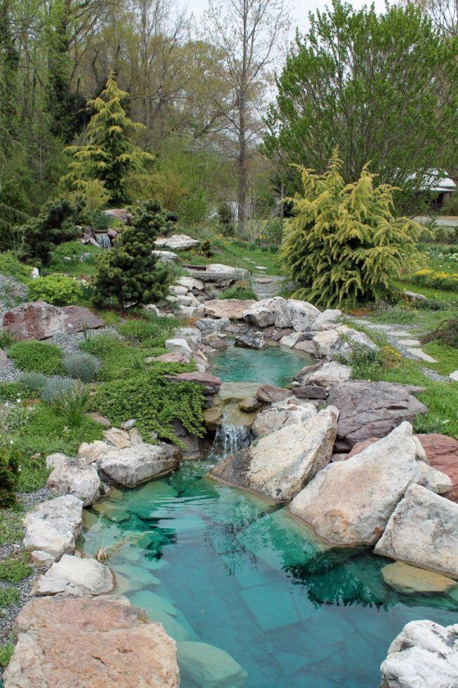 Teich bachlauf garten basser sauber pflanzen baeume - Bachlauf im garten bilder ...