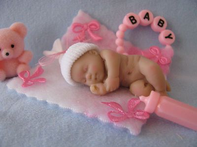 polymer clay baby doll ooak miniature shower favor mini fairy angel