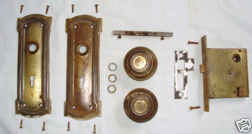 1920 S Door Hardware Set Complete With All Parts Including Original Mounting Screws Vintage Door Hardware Vintage Door Door Hardware