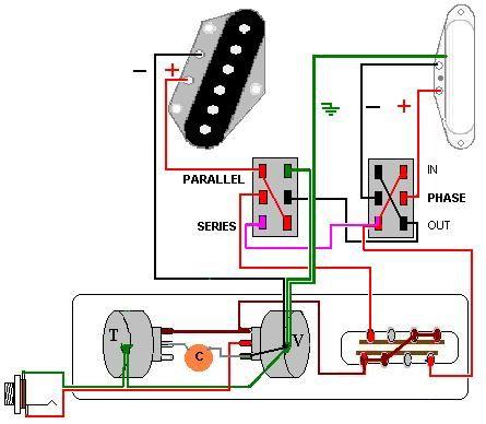 Tele, DPDT Series/Parallel, DPDT Phase wiring | Telecaster ...