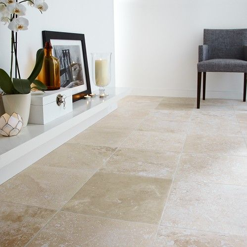 Travertine Honed and Filled Straight Cut Floor Tile £27.54 m2