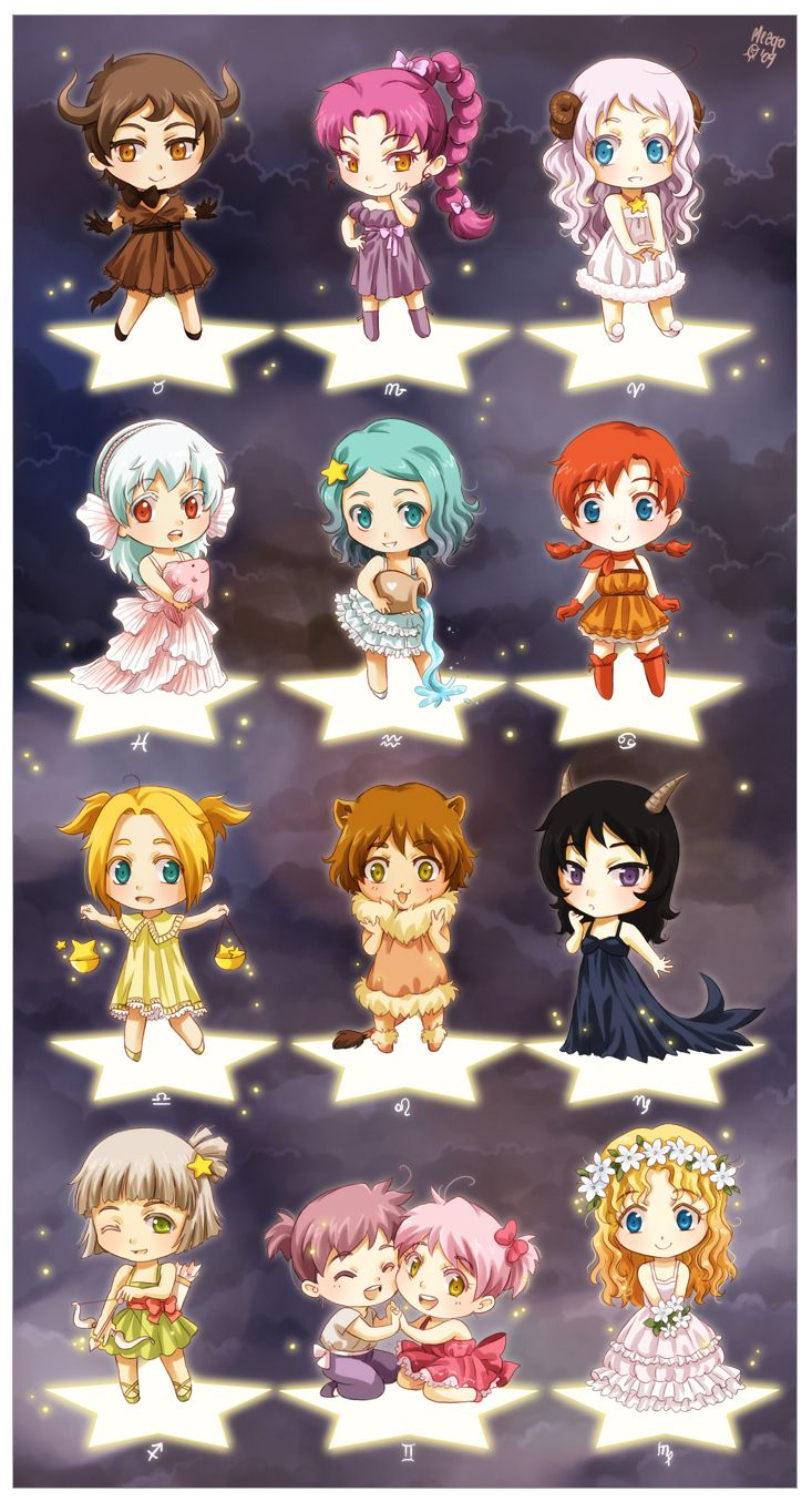 Chibi Zodiac by `meago on deviantART Anime zodiac, Anime
