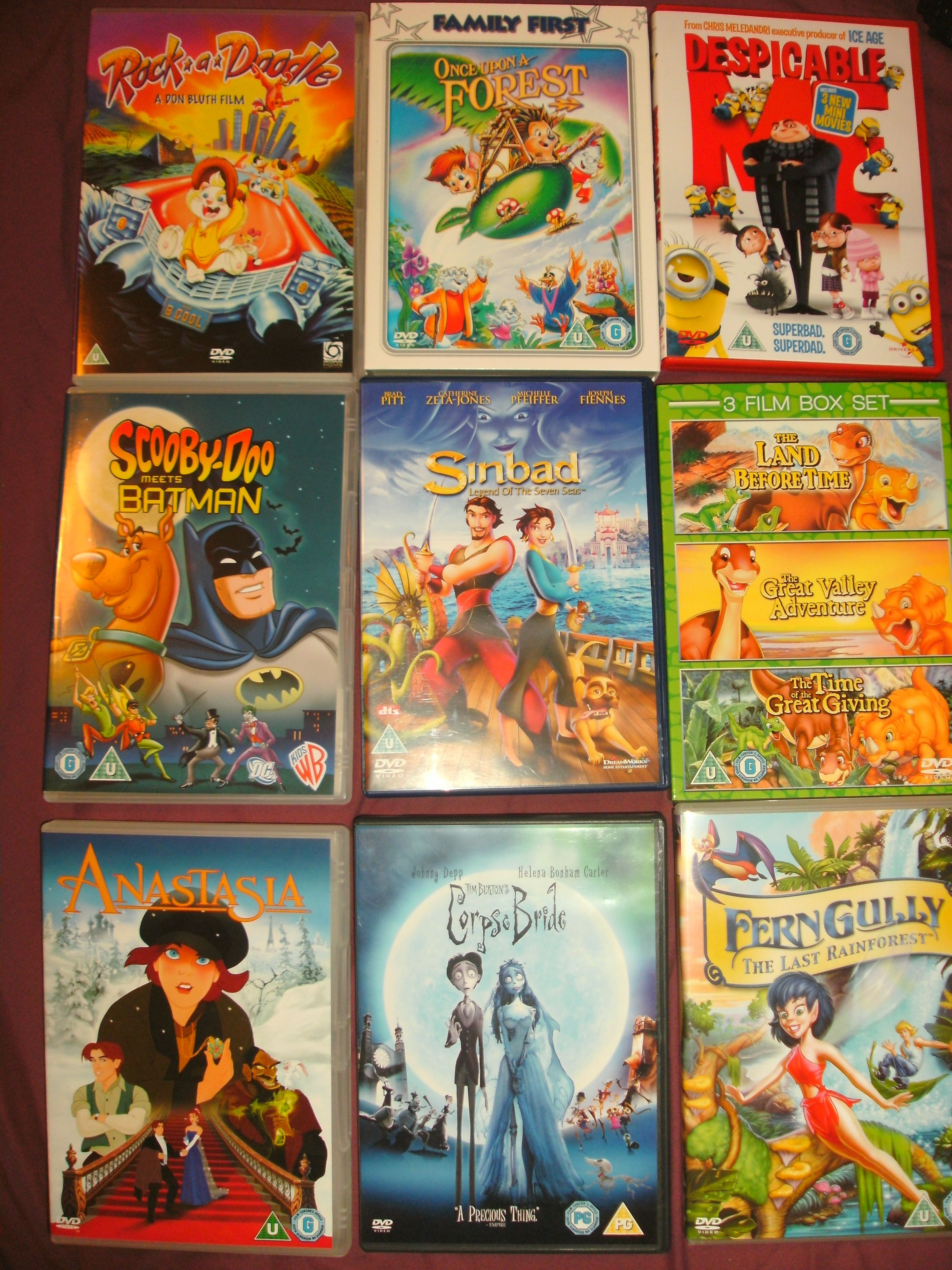 Some Non Disney Animated Films Rock A Doodle Once Upon A Forest Despicable Me Scooby Doo Disney Animated Films Disney Cartoon Movies Disney Animated Movies