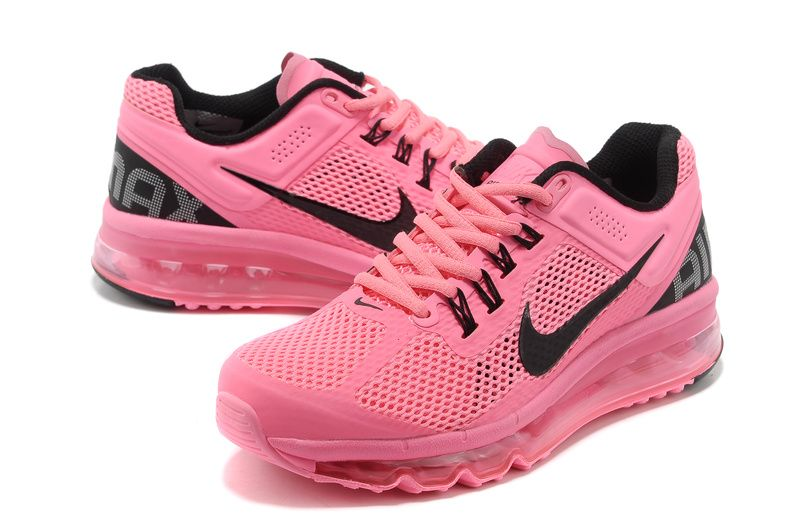 Nike Air Max 2013 Ongles Rose Et Blanc