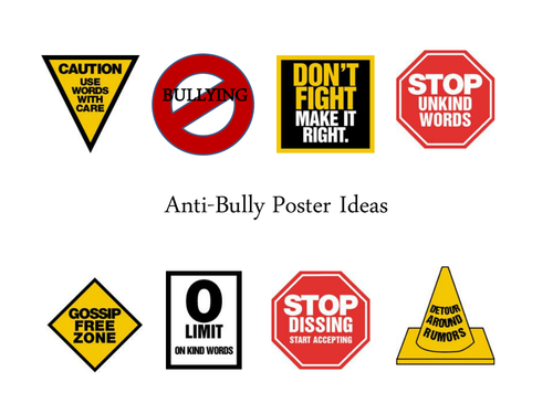Anti-Bullying Poster Ideas | Color Your Own All About Anti ...