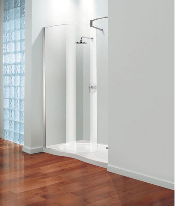 Coram - Tube Curved Glass Shower Front Panel   CompareTheBathroom ...