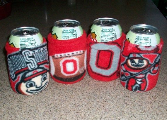 Cozy for 12 ounce beverage can, Ohio State Buckeyes, other college teams #ohiostatebuckeyes