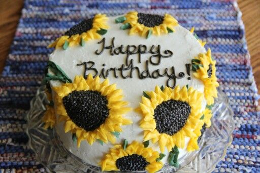 Sunflower birthday cake Birthday Wishlist Pinterest