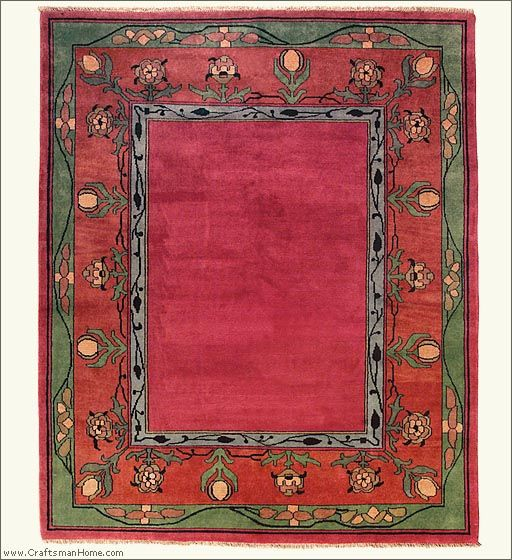 Modern Hand Knotted Craftsman Style Rug. The Persian Carpet: The Voysey  Border (