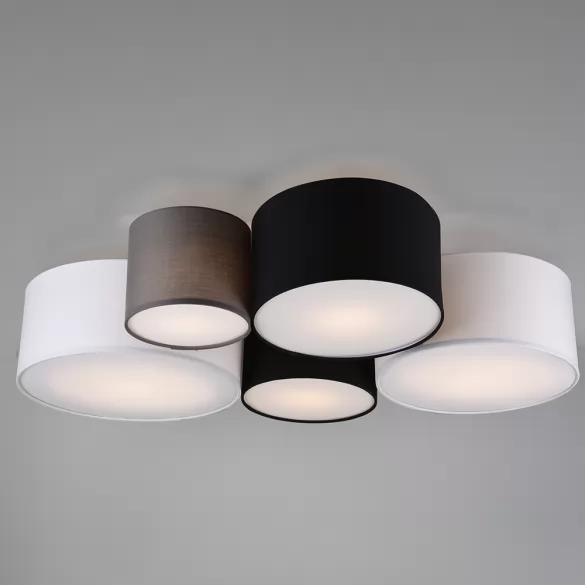 Deckenlampe mit Stoffschirmen und 90 cm Länge. Kostenfreier Versand