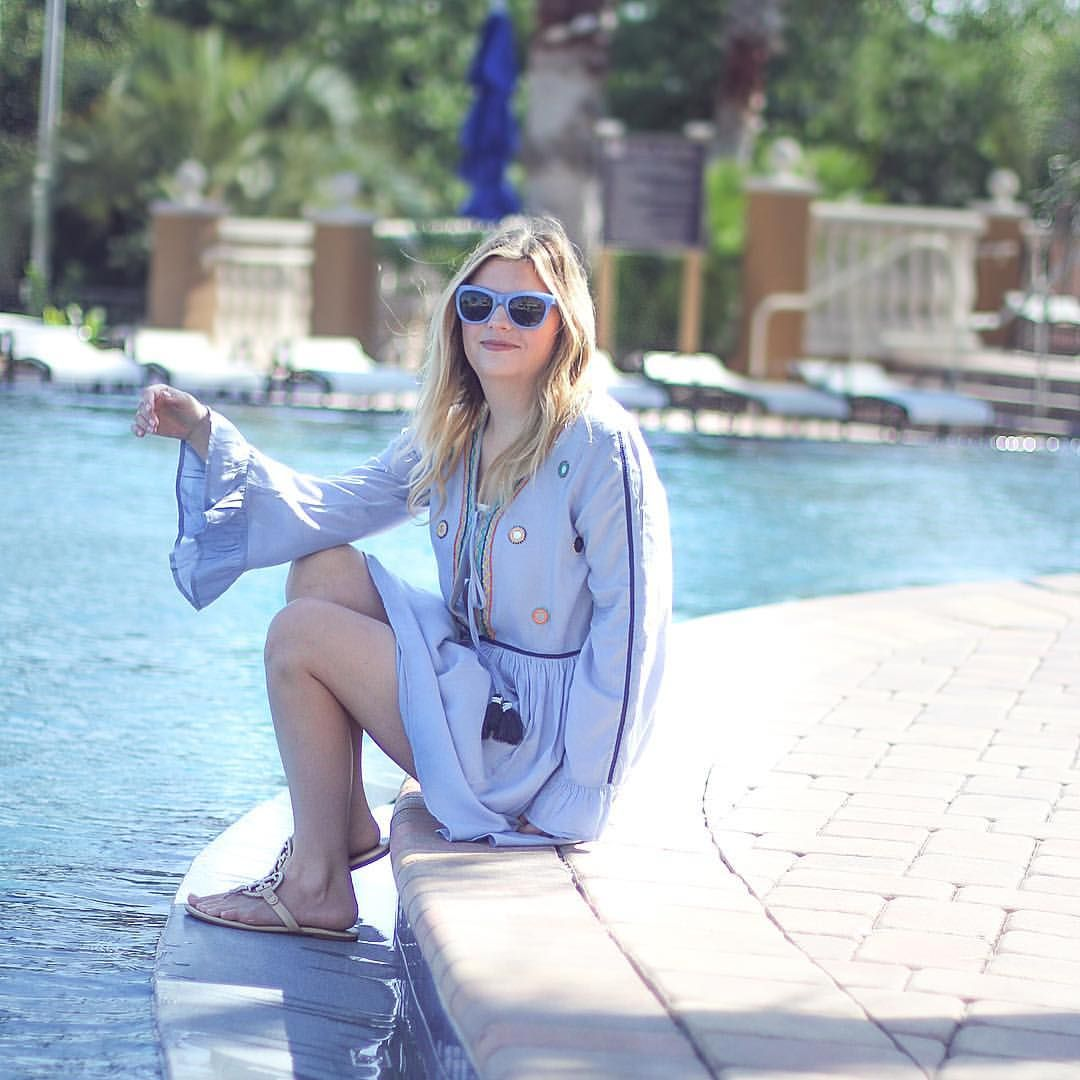 Beach coverup ideas, summer outfit inspiration, blue sunglasses, beach, beach outfit ideas.